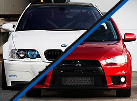 BMW M Power vs. Mitsubishi Lancer Evo 10
