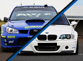 Subaru Impreza WRX vs. BMW M Power